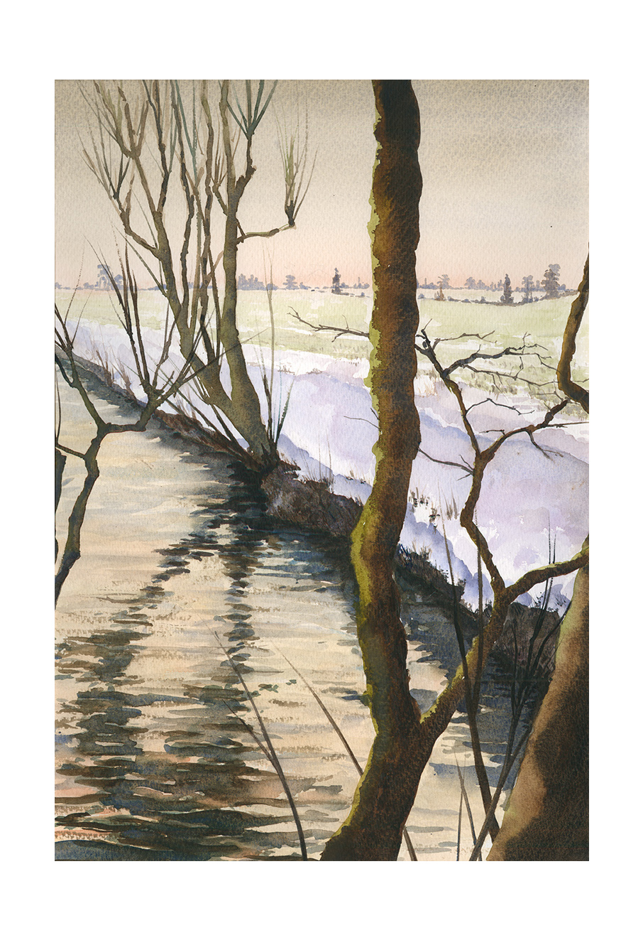 Winter riverbank