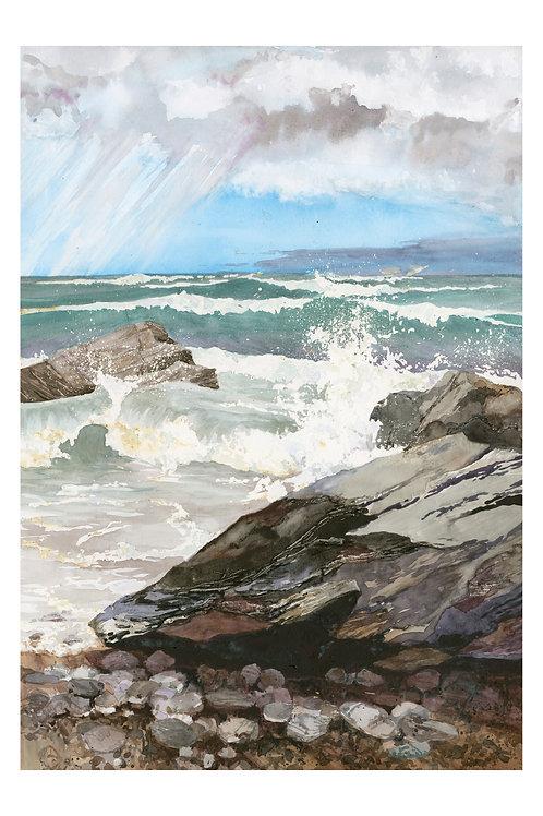 Waves 2 at Porthtowan