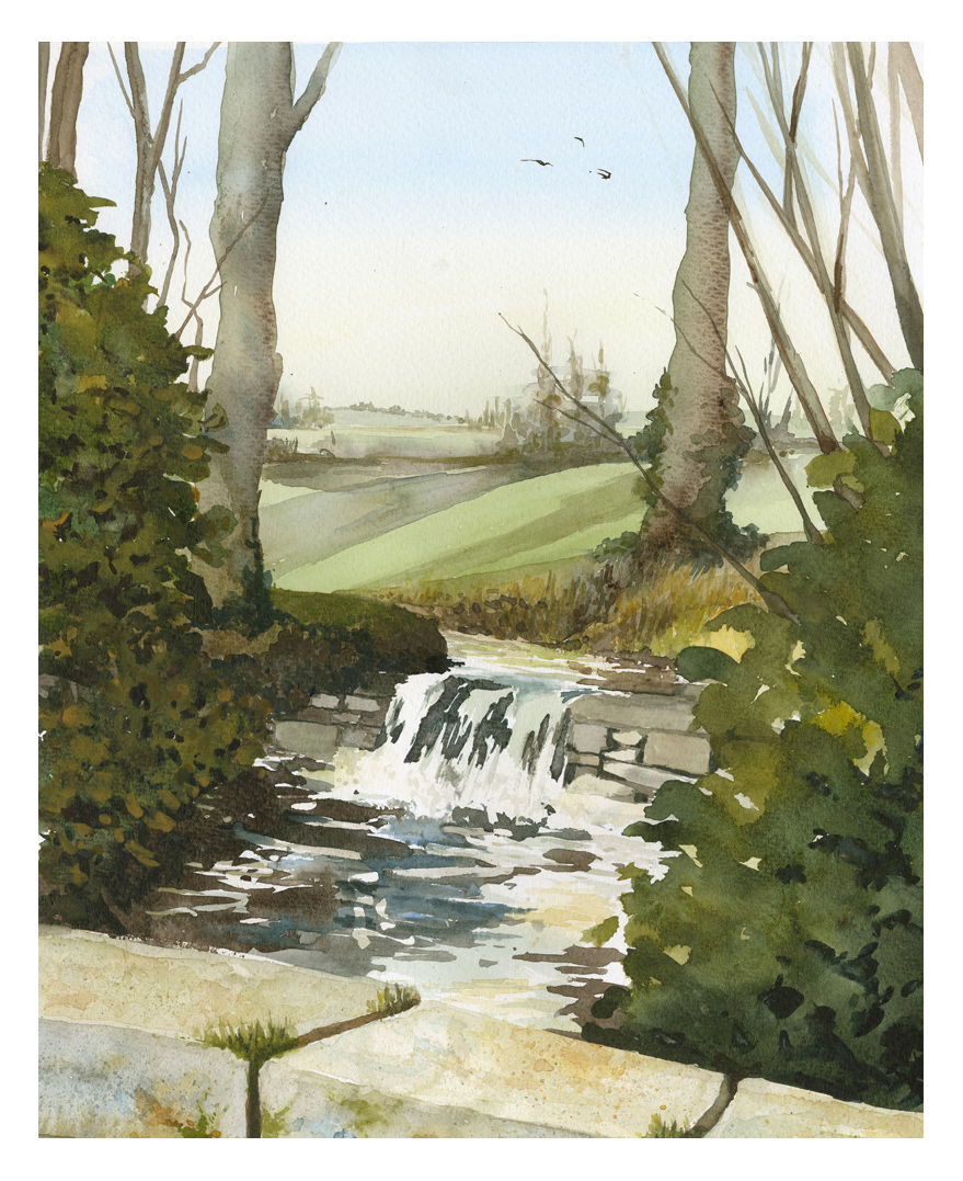 Stream at Great Chalfield