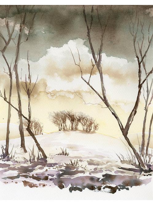 Winter on Marlborough Downs I