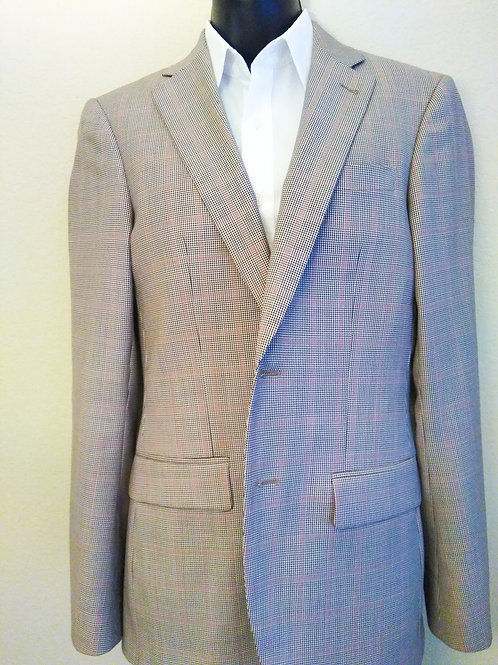 Pink and Gray Plaid Suit