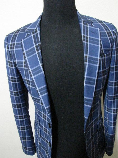 Brilliant Blue and Permafrost Stripe Blazer