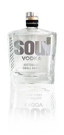 Soul Vodka White Bottle reflection small