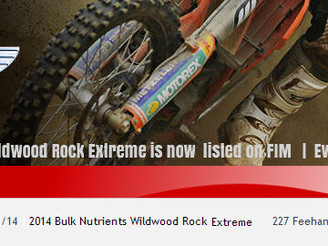 Wildwood Rock Extreme listed on FIM Calendar
