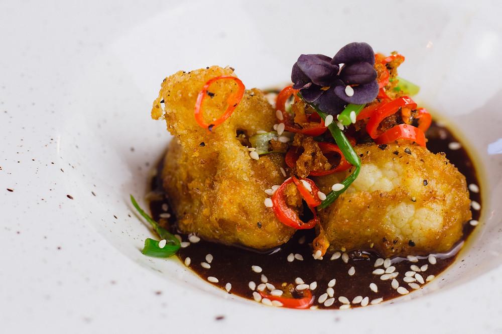 The Broadfield's starts menu item, Cauliflower wings