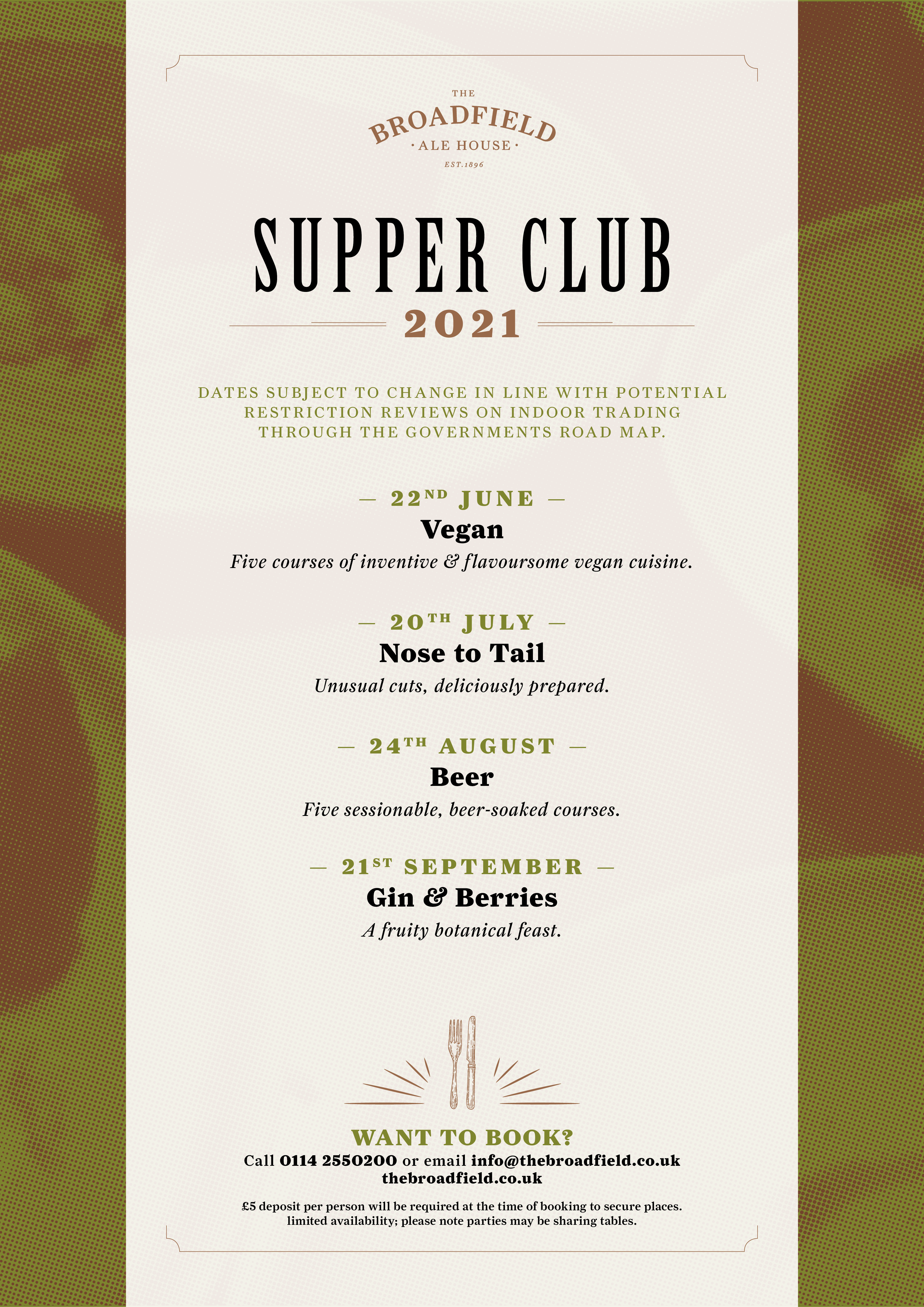 The Broadfield Supper Clubs 2021