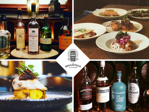 Food and drink at The Broadfield in March