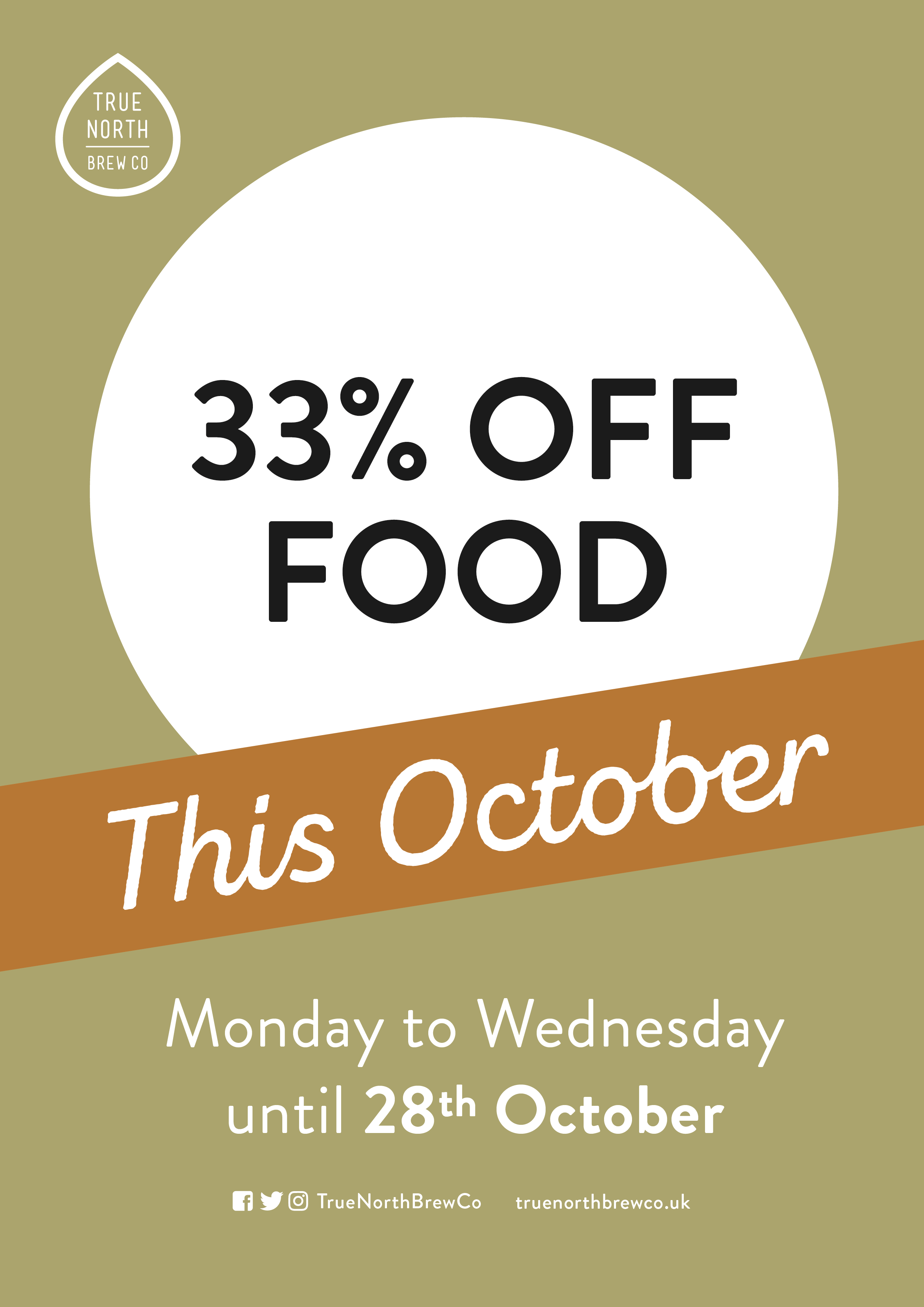 33% OFF FOOD!