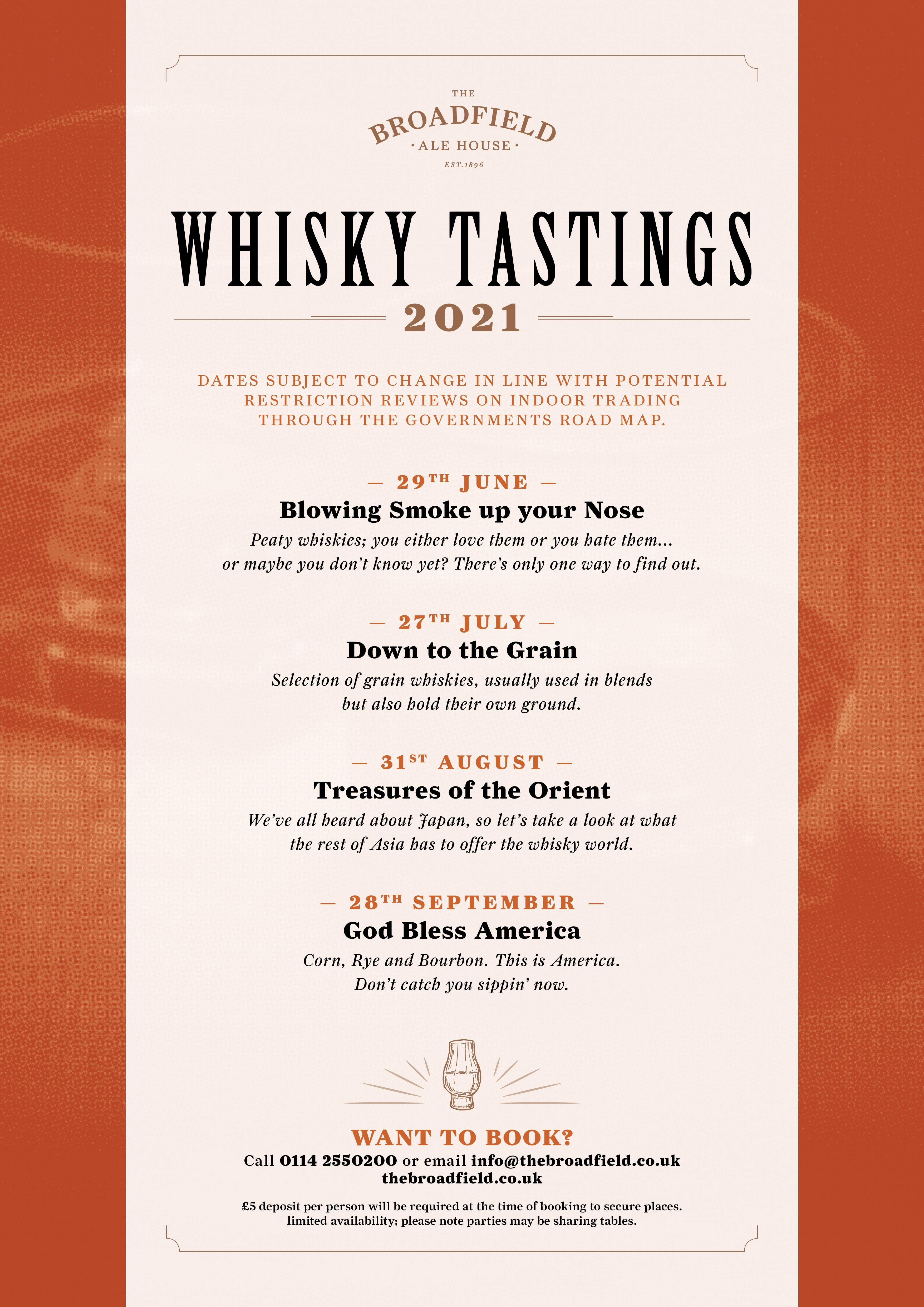 The Broadfield Whisky Tastings 2021