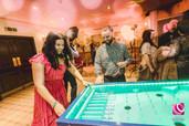 women in red playing Garden Games  Hire  Weddings West Midlands