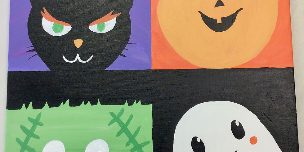 Youth Halloween Canvas Painting Night