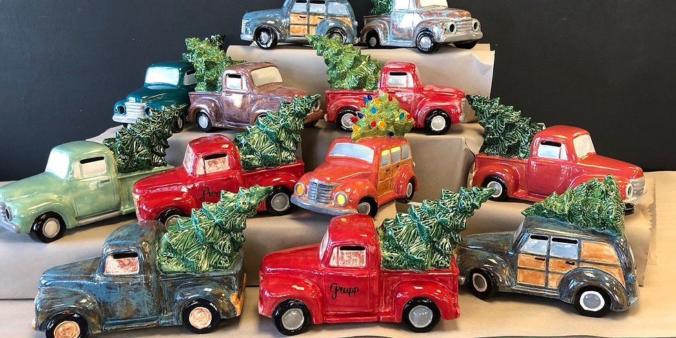 All Ages Ceramic Truck with Tree Workshop