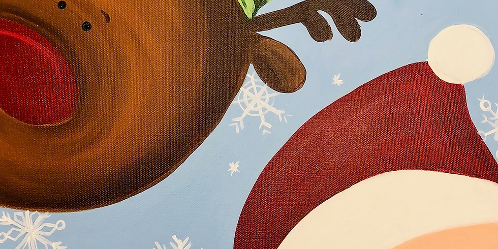 toddler christmas canvas painting