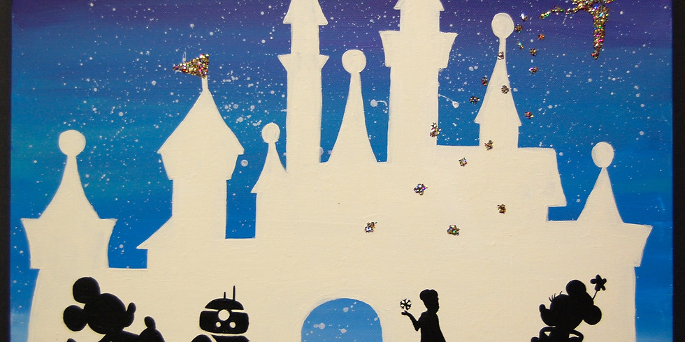 Dots and Tots: Disney Castle Canvas Painting