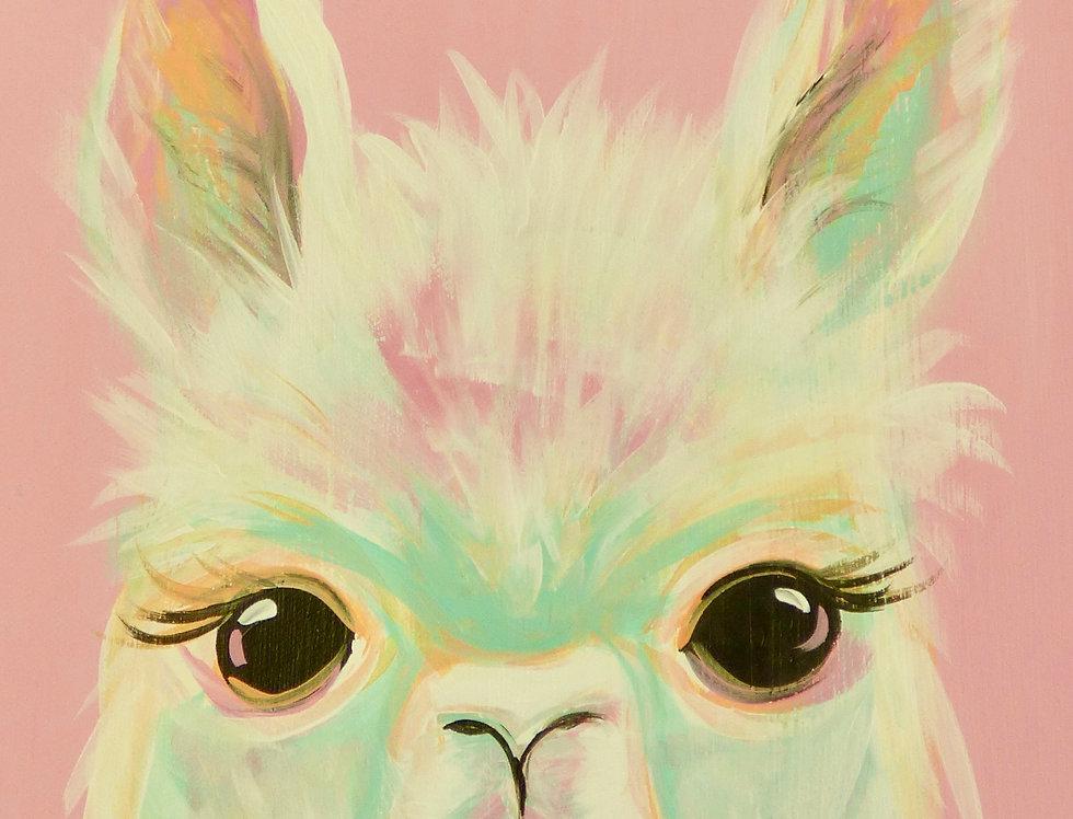 Pastel Llama Canvas