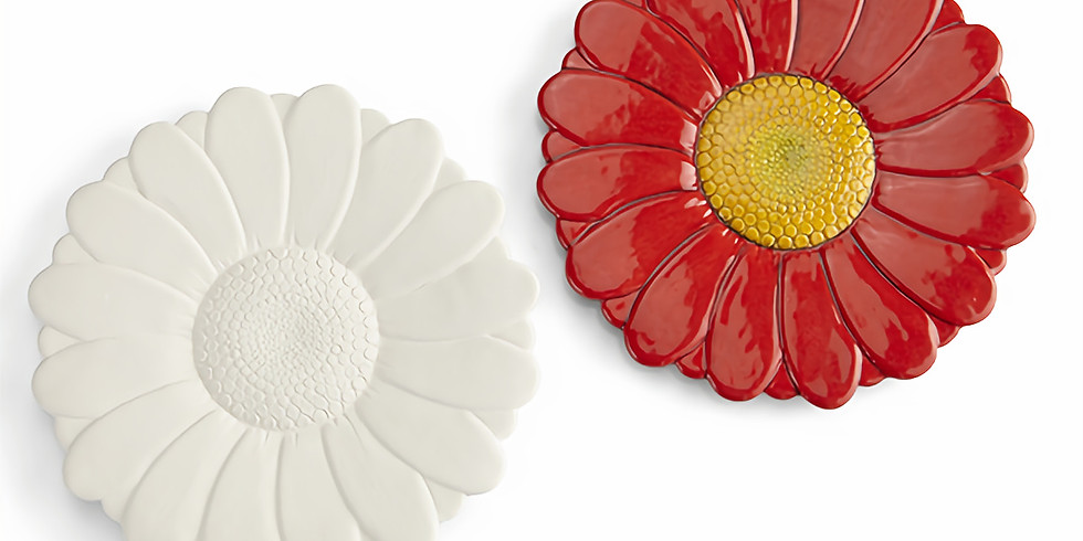 Dots and Tots: Ceramic Flower Plate