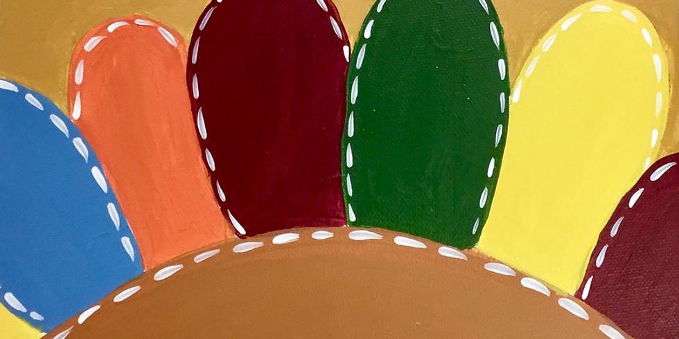 toddler thanksgiving turkey canvas