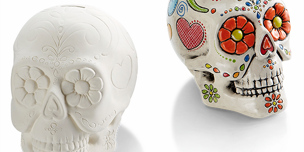 Youth Sugar Skull Pottery and Coco Movie Workshop
