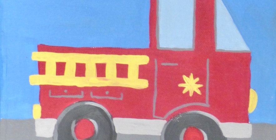 Fire Truck Canvas