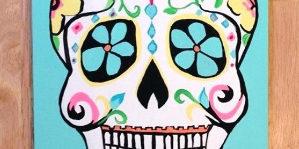Teen Sugar Skull Canvas Workshop