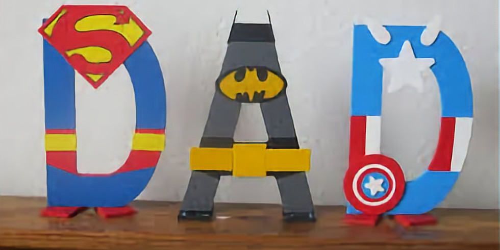 Dots and Tots: Superhero DAD Letters