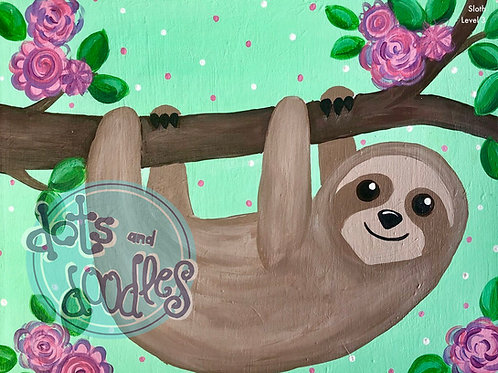 Sloth Canvas
