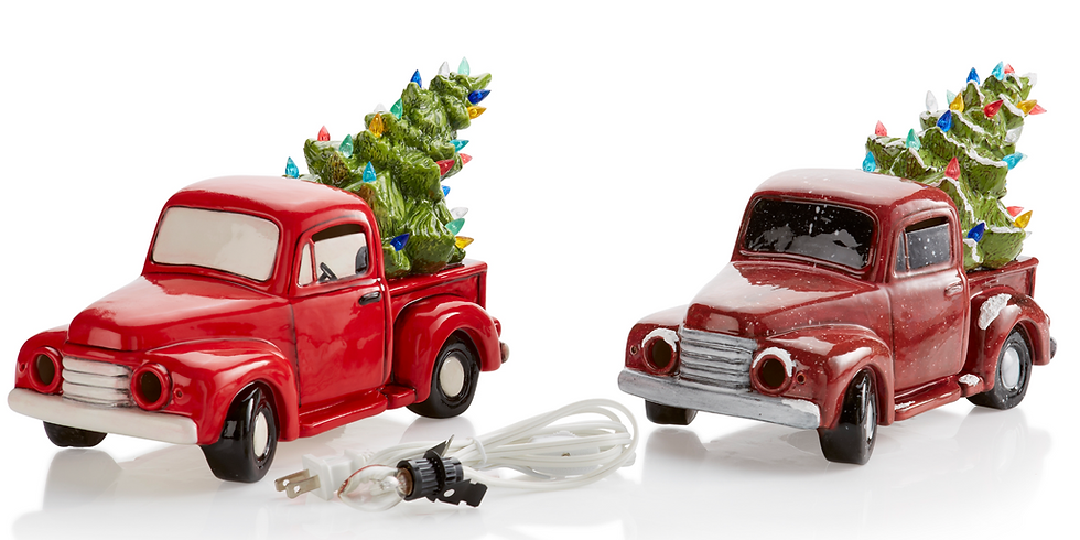 Adult Ceramic Light Up Truck with Tree Workshop