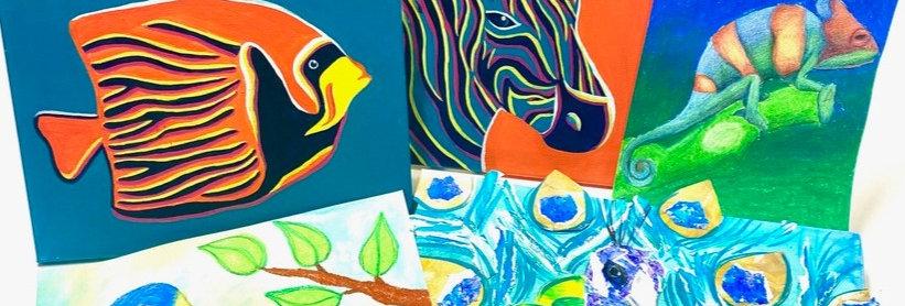 let's get wild!: art safari doodle box