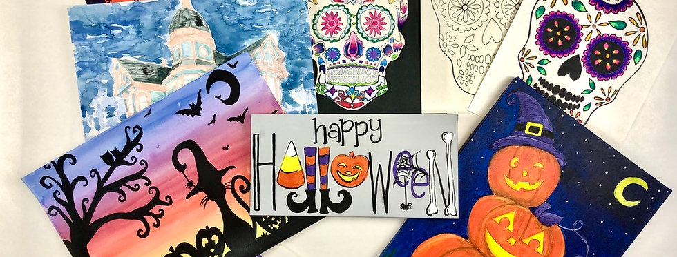 happy haunting: halloween doodle box (ages 9+)