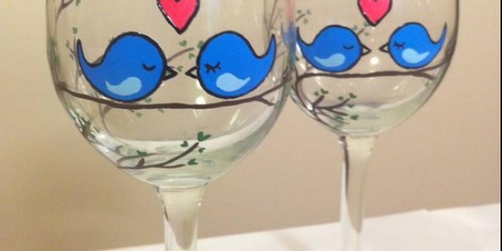 Adult BYOB Couples Valentine's Glass Painting Night