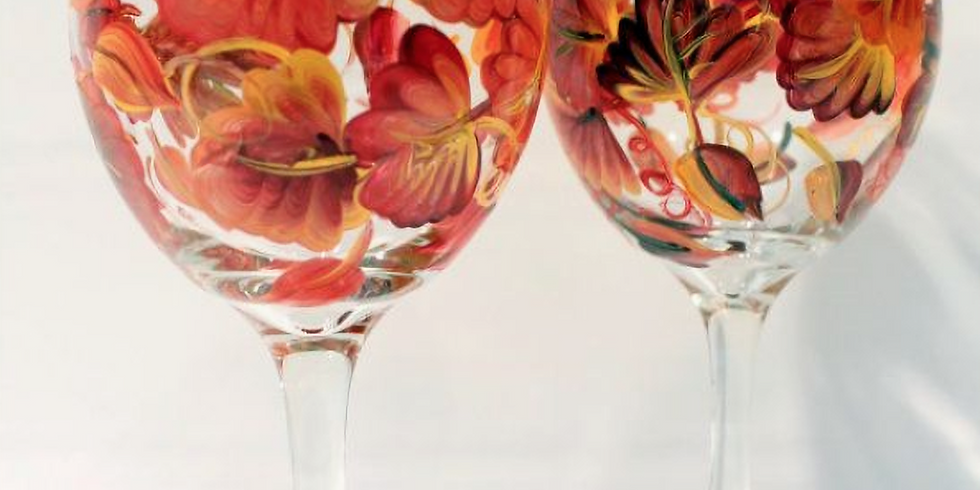 Adult Fall Wine Glass Painting