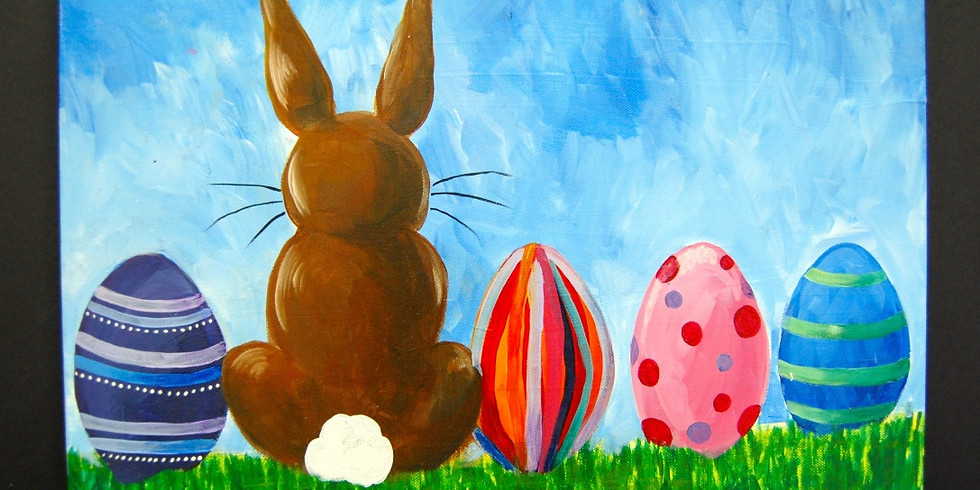 Adult Easter Bunny Canvas Painting