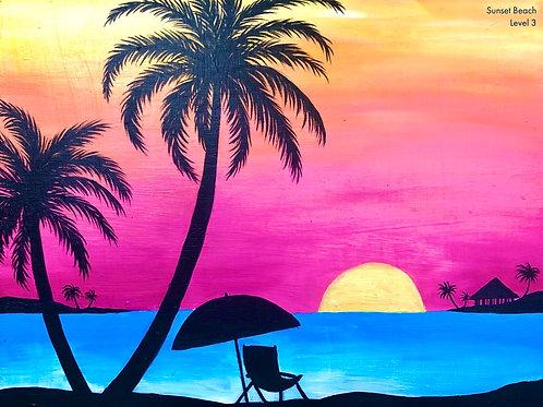 Sunset Beach Canvas