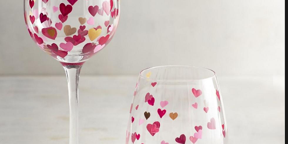 Adult BYOB Workshop: Valentine's Wine Glass Painting