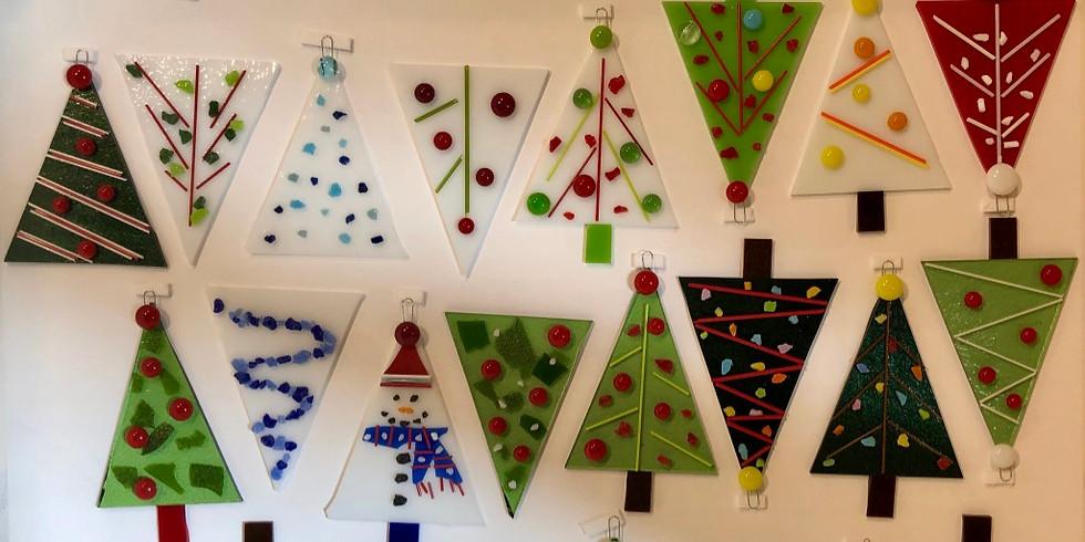 parent & child fused glass ornament workshop