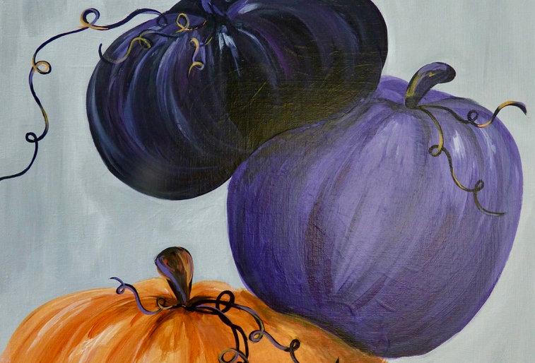 Stacking Pumpkins Canvas