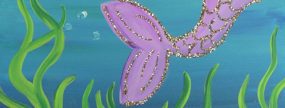 Purple Mermaid Tail