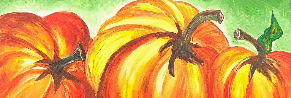 Triple Pumpkin Canvas
