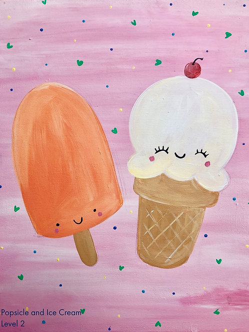 Popsicle and Ice Cream Canvas