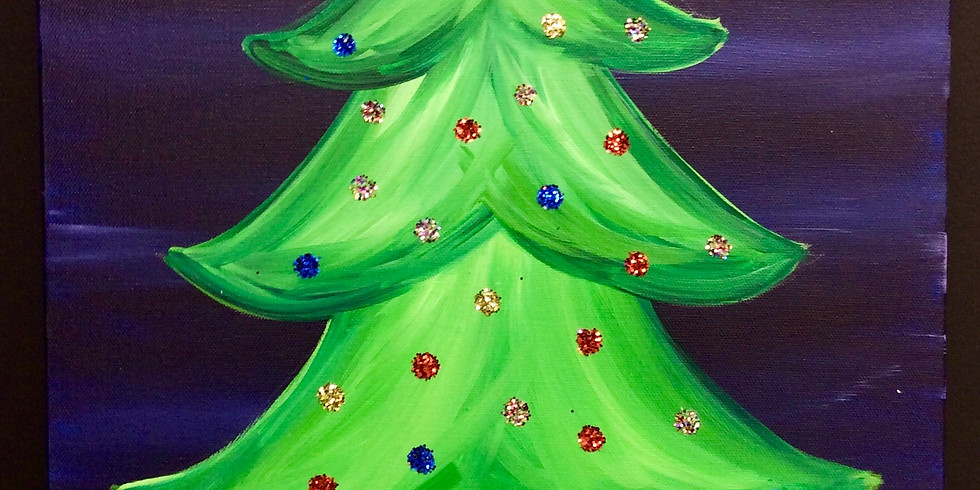 Dots and Tots: Tree Canvas Painting