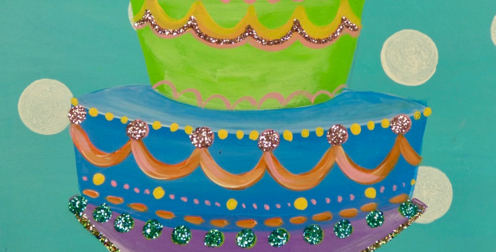 Birthday Cake Canvas