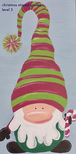 Gnome in Striped Hat Canvas