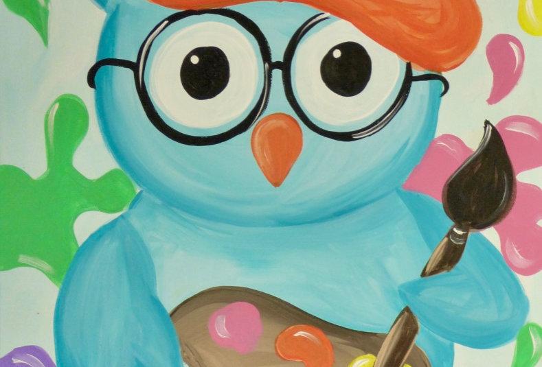 Artsy Owl Canvas