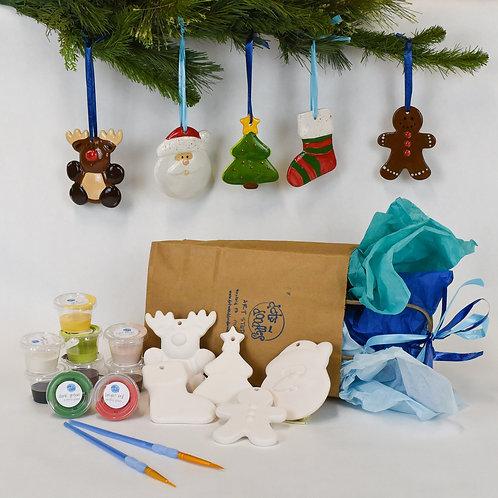 Run Rudolph Run! Ceramic Ornament Pack