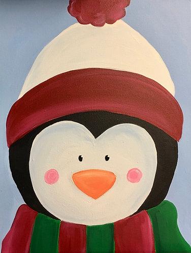 Penguin in Hat Canvas