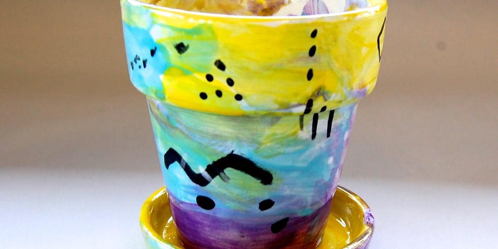 Dots and Tots: Ceramic Flower Pot