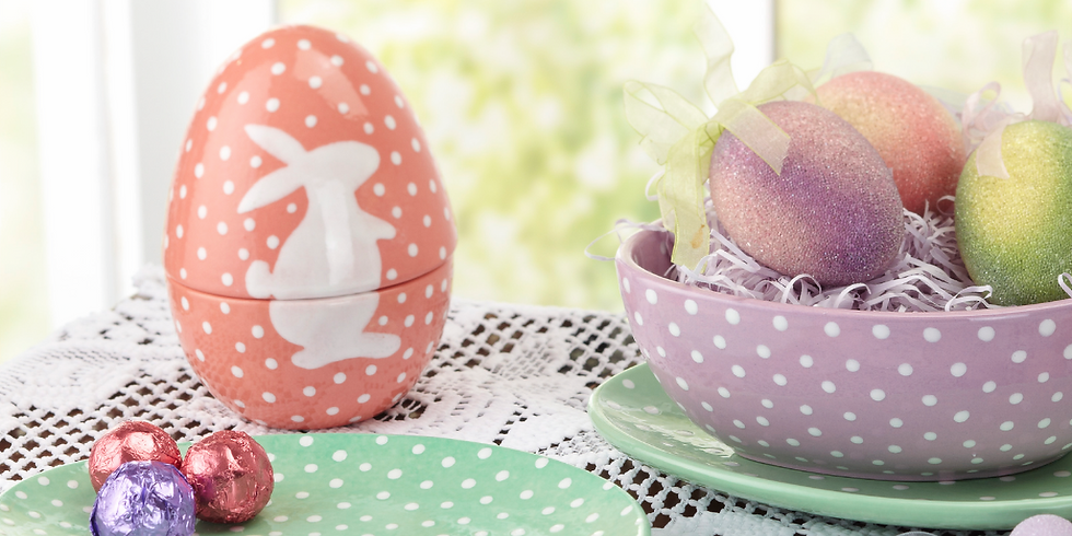 Dots and Tots: Ceramic Egg Box Painting