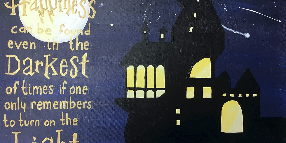 Teen Workshop: Calling all Muggles: Harry Potter Canvas Painting