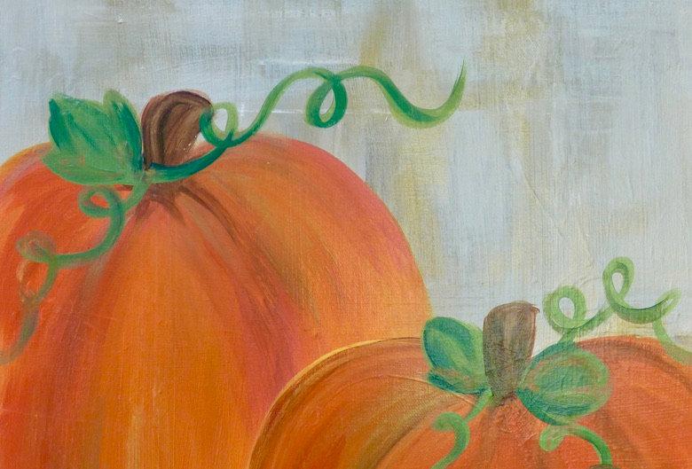 Elegant Pumpkin Canvas