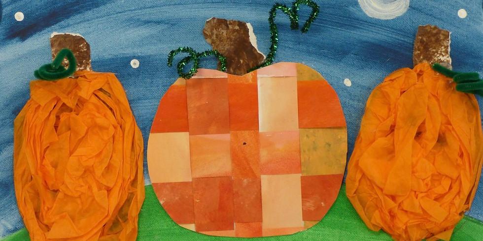 toddler pumpkin collage